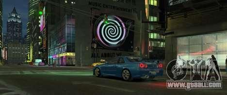 Nissan Skyline GTR-34 for GTA 4 right view