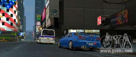 Nissan Skyline GTR-34 for GTA 4 left view