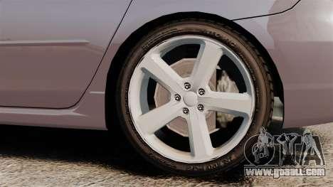 Mazda 3 Sport for GTA 4 back view