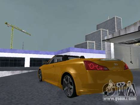 Infiniti G37 S Cabriolet for GTA San Andreas right view