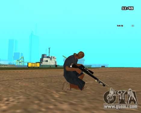 White Chrome Sniper Rifle for GTA San Andreas second screenshot