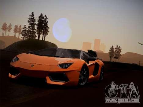 Lamborghini Aventador LP760-2 for GTA San Andreas inner view