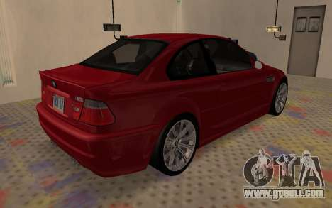 BMW M3 E46 2005 Body Damage for GTA San Andreas back left view