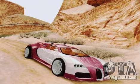 Bugatti Veyron 16.4 Concept for GTA San Andreas left view