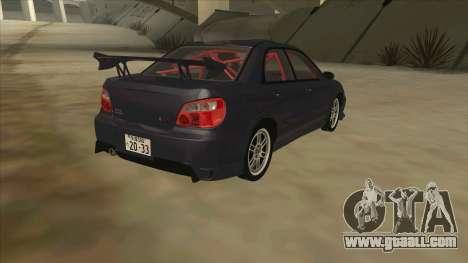 Subaru Impreza WRX STI Drift 2004 for GTA San Andreas right view