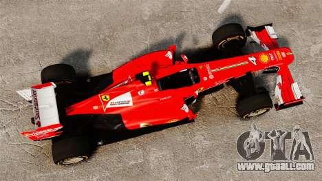 Ferrari F138 2013 v2 for GTA 4 right view
