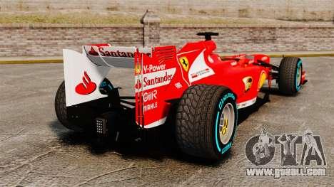 Ferrari F138 2013 v1 for GTA 4 back left view