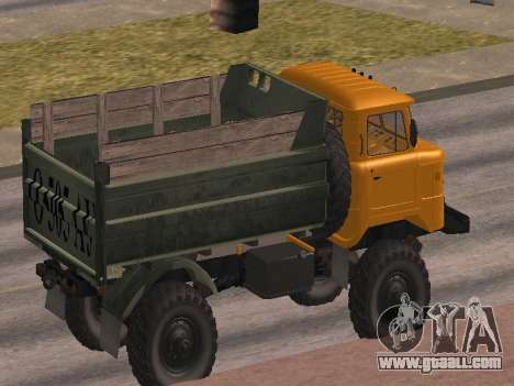 GAS-66 Truck for GTA San Andreas bottom view