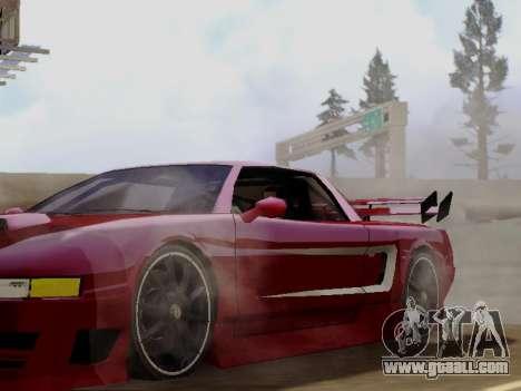Infernus DoTeX for GTA San Andreas back view
