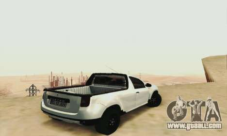 Dacia Duster Pick-up for GTA San Andreas left view