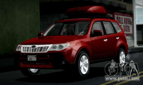 Subaru Forester XT 2008 v2.0 for GTA San Andreas inner view