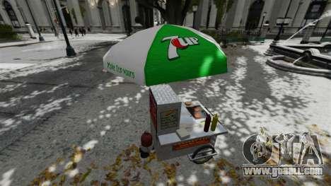 The upgraded kiosks and hot dogovye carts for GTA 4 sixth screenshot