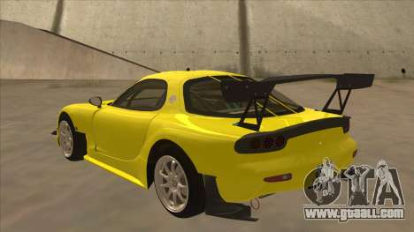 Mazda RX7 FD3S RE Amemyia Touge Style for GTA San Andreas back view