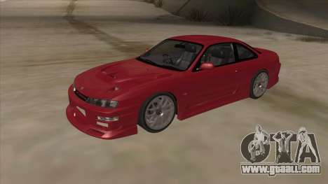 Nissan Silvia S14 RB26DETT Black Revel for GTA San Andreas left view