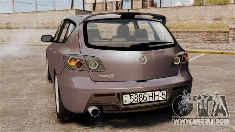Mazda 3 Sport for GTA 4 right view