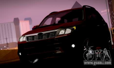 Subaru Forester XT 2008 v2.0 for GTA San Andreas wheels