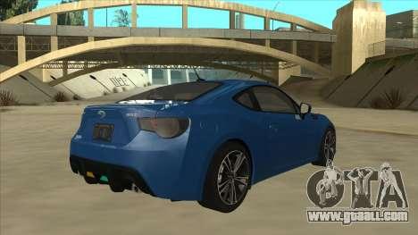Subaru BRZ 2013 Tunable for GTA San Andreas right view