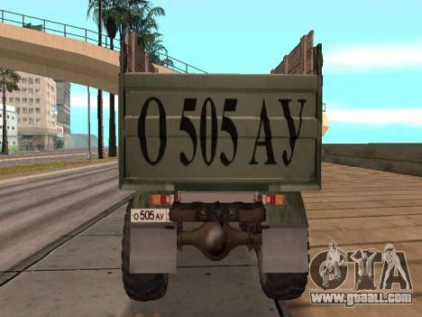 GAS-66 Truck for GTA San Andreas inner view