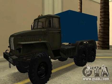 Ural 4320 Tonar for GTA San Andreas