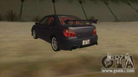 Subaru Impreza WRX STI Drift 2004 for GTA San Andreas back view