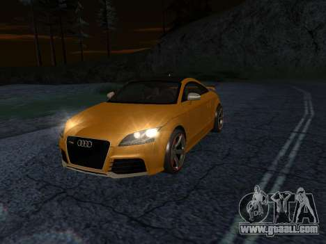 Audi TT RS Plus 2013 for GTA San Andreas back left view