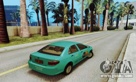Toyota Corolla City Mastercab for GTA San Andreas back left view