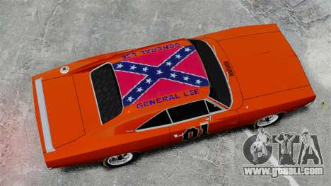 Dodge Charger 1969 General Lee v2 for GTA 4 right view