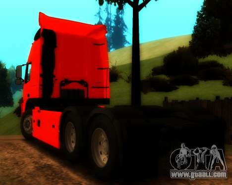 Volvo FM Globetrotter XL 6x4 for GTA San Andreas back view