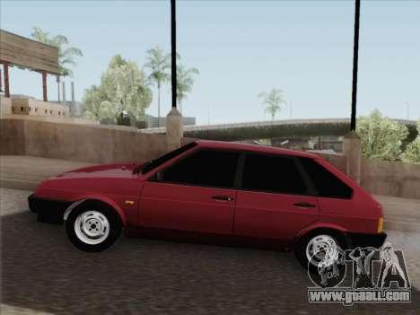 VAZ 21093i for GTA San Andreas bottom view