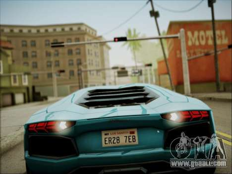 Lamborghini Aventador LP700 for GTA San Andreas side view