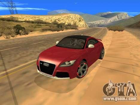 Audi TT RS Plus 2013 for GTA San Andreas back view