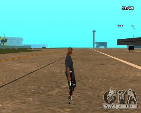 White Chrome Sniper Rifle for GTA San Andreas forth screenshot