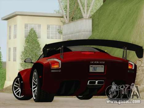 Devon GTX 2010 for GTA San Andreas right view
