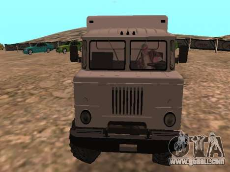 GAZ 66 Watch for GTA San Andreas back view