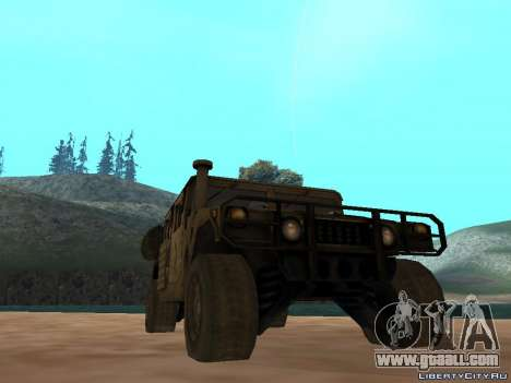 Hamvee M-1025 of Battlefiled 2 for GTA San Andreas