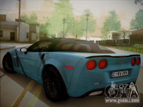Chevrolet Corvette ZR1 2010 for GTA San Andreas left view