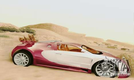 Bugatti Veyron 16.4 Concept for GTA San Andreas back left view