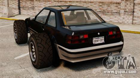 Futo-buggy for GTA 4 back left view