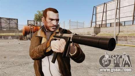 Tactical MP9 submachine gun v1 for GTA 4 third screenshot