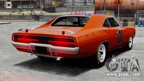 Dodge Charger 1969 General Lee v2 for GTA 4 back left view