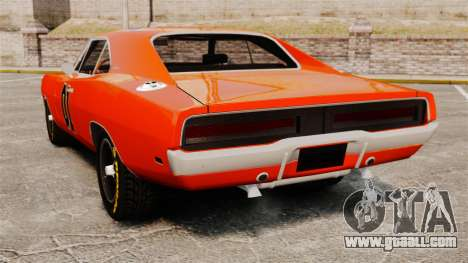 Dodge Charger General Lee 1969 for GTA 4 right view