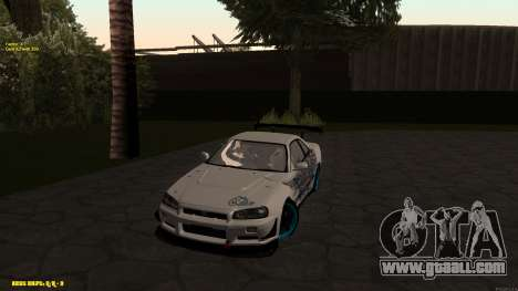 Nissan Skyline GTR 34 CIAY for GTA San Andreas