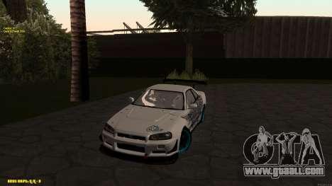 Nissan Skyline GTR 34 CIAY for GTA San Andreas left view