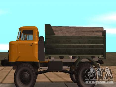 GAS-66 Truck for GTA San Andreas back left view