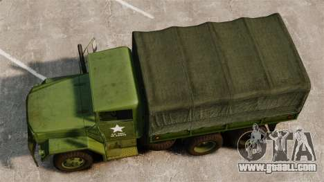 Basic military truck AM General M35A2 1950 for GTA 4 right view