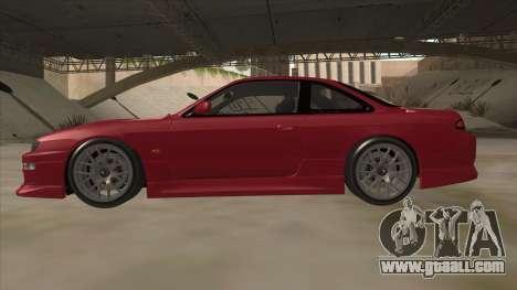 Nissan Silvia S14 RB26DETT Black Revel for GTA San Andreas back left view
