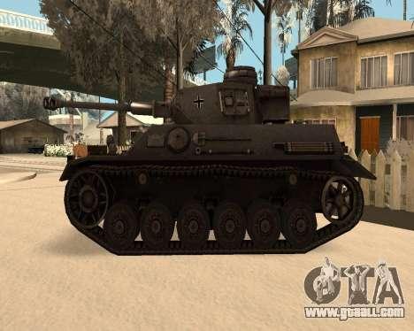Panzerkampfwagen for GTA San Andreas left view