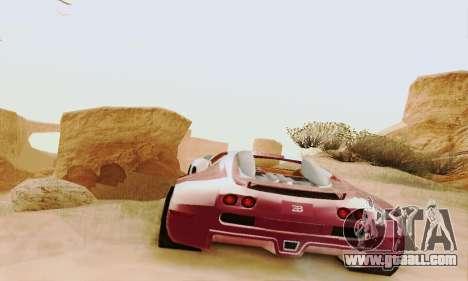 Bugatti Veyron 16.4 Concept for GTA San Andreas back view