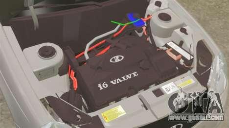 Vaz-2170 Priora for GTA 4 inner view