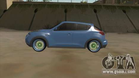 Nissan Juke Lowrider for GTA San Andreas back left view